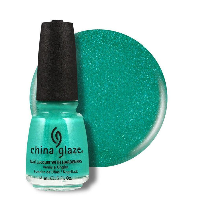 China Glaze Nail Lacquer 14ml - Turned Up Turquoise - Professional Salon Brands