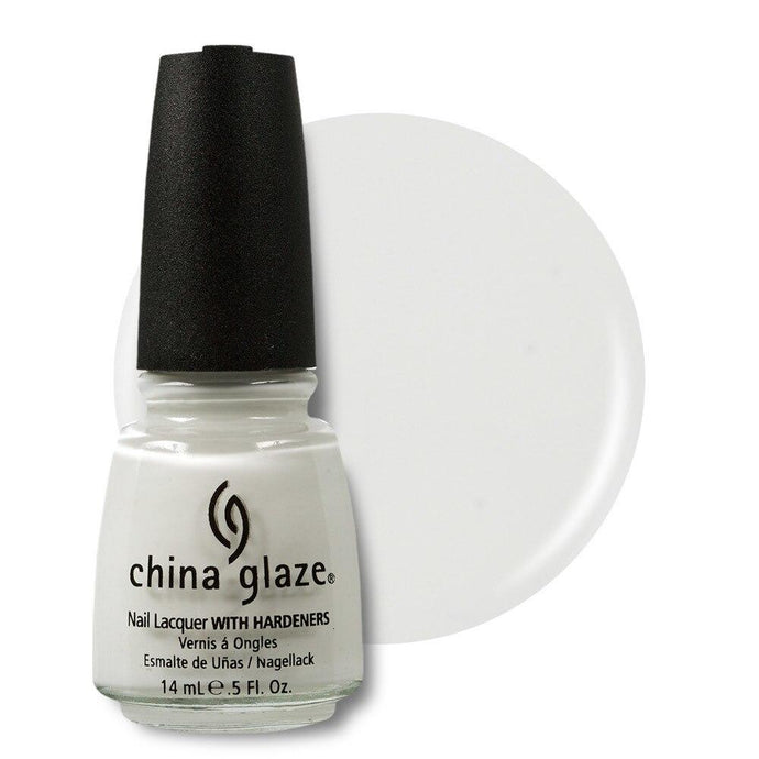 China Glaze Nail Lacquer 14ml - White on White - Professional Salon Brands