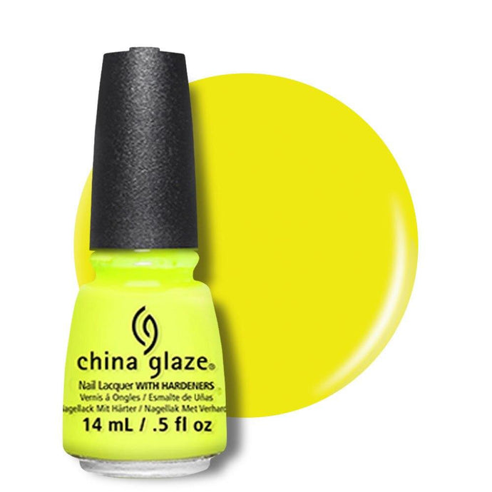 China Glaze Nail Lacquer 14ml - Yellow Polka Dot Bikini - Professional Salon Brands