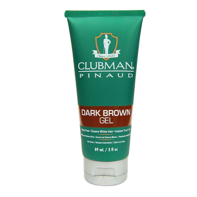 Clubman Pinaud Temporary Dark Brown Gel 85g - Professional Salon Brands