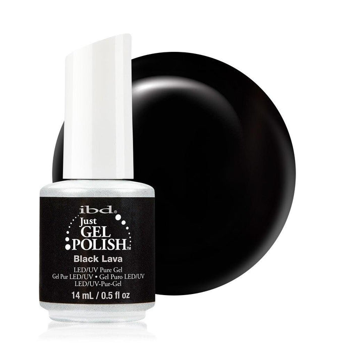 ibd Just Gel Polish 14ml - Black Lava - Professional Salon Brands