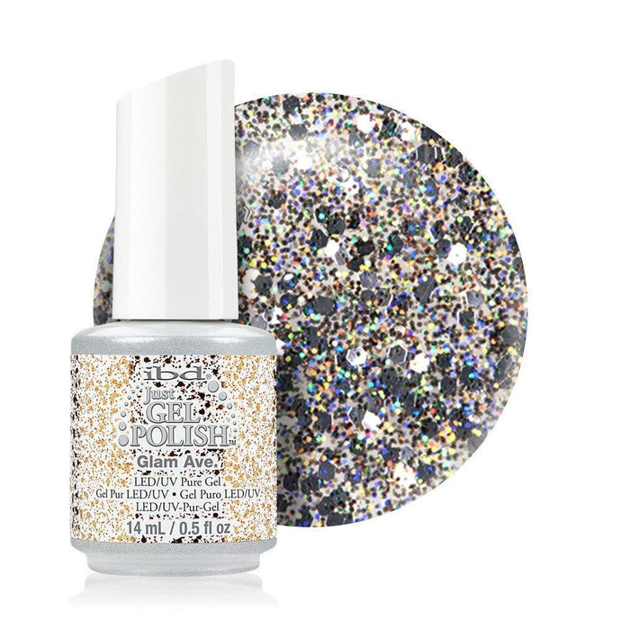 ibd Just Gel Polish 14ml - Glam Ave (Glitter) - Professional Salon Brands