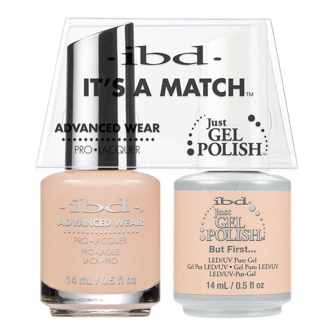 ibd Gel Polish & Lacquer Duo - But First... - Professional Salon Brands