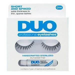 DUO Short and Spiked Eyelashes D14 - WITHOUT GLUE - Professional Salon Brands