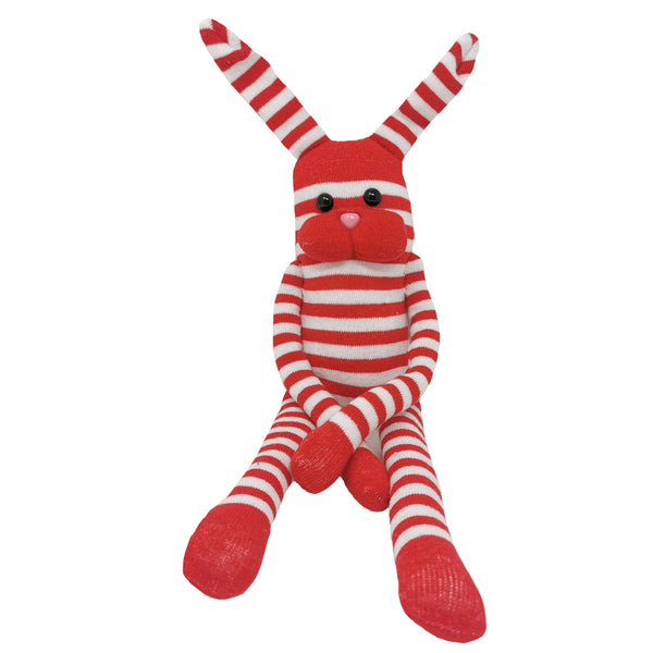 Red & White Striped Bunny