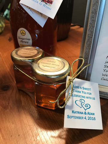 2 pack of 2 ounce honey jars for receptions, showers or group gifts.