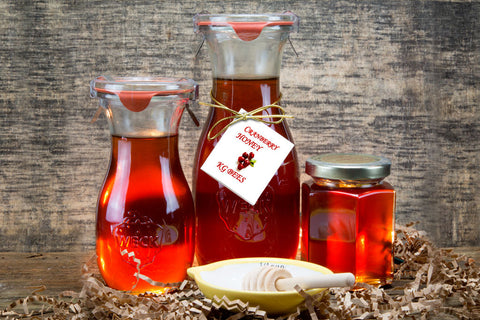 Cranberry Infused Honey