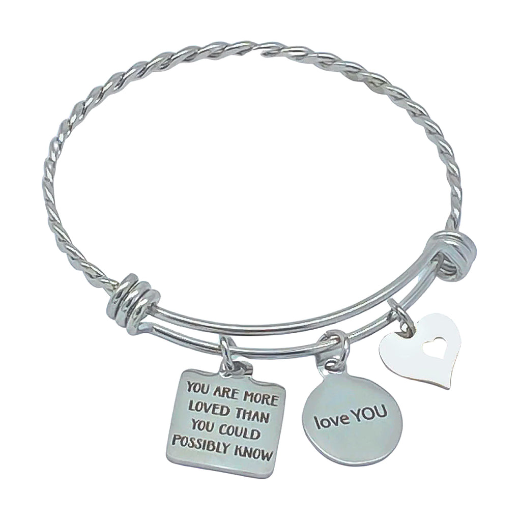 love bangle bracelet love you stainless steel braided bracelet