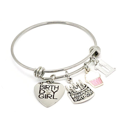 Birthday Girl Bangle Bracelet: Age 11