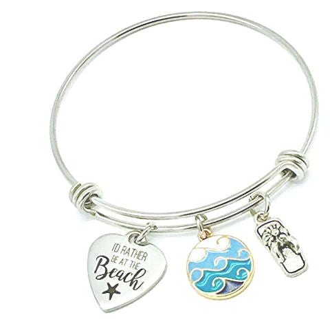 I'd Rather be at the Beach, Fun Bangle Bracelet