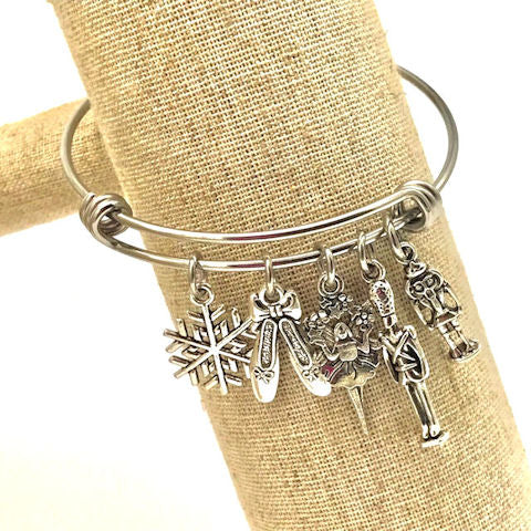 Nutcracker Suite, Ballet Christmas Bangle Bracelet