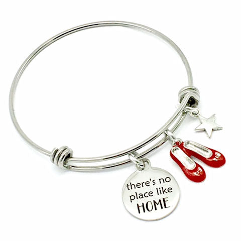 Wizard of Oz Inspired, There's No Place Like HOME Bangle Bracelet