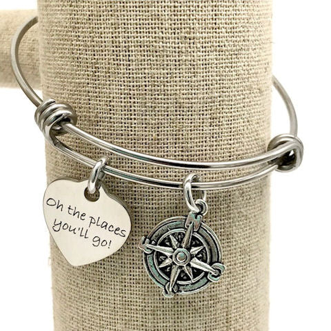 Charm Bangle Bracelet: Oh the Places You'll Go