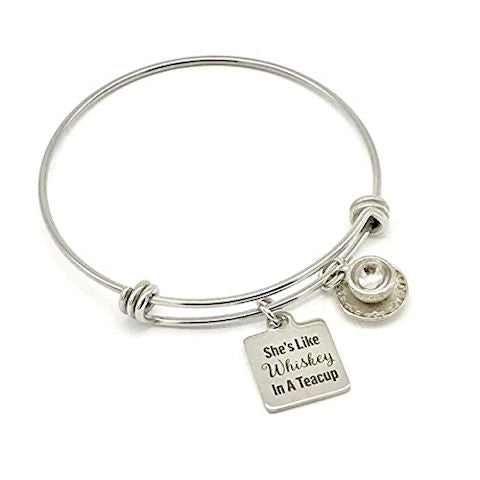 Southern Charm Bangle Bracelet: Whiskey in a Teacup