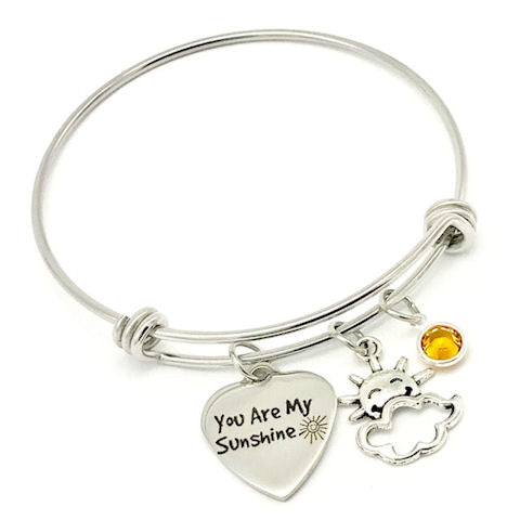 You Are My Sunshine Bangle Bracelet