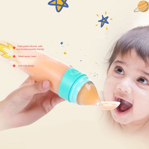 Squeezy Newborn Baby Feeding Bottle.