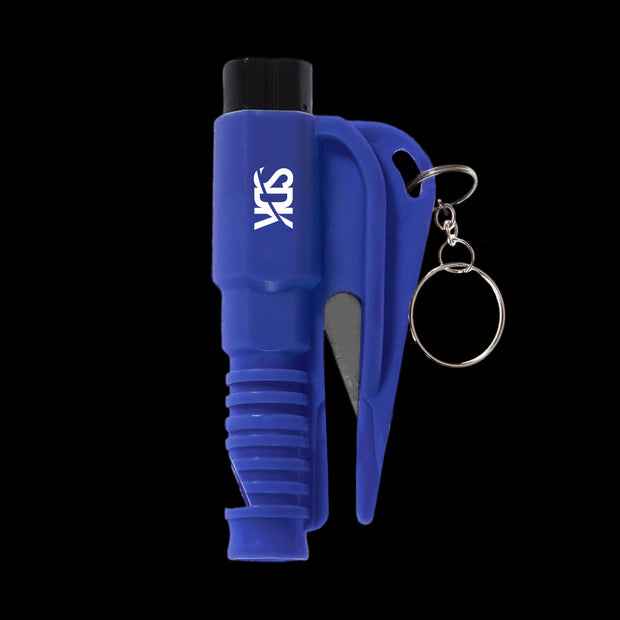 SDK Kit Blue Escape Tool (all-in-one seat belt cutter, window breaker and whistle)