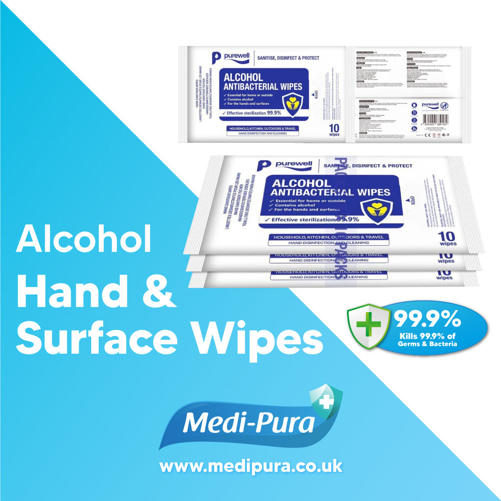 Alcohol Hand and Surface Wipes 30 Pack