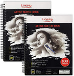 200 Sheets Artist Sketch Book Pad by LOKSS
