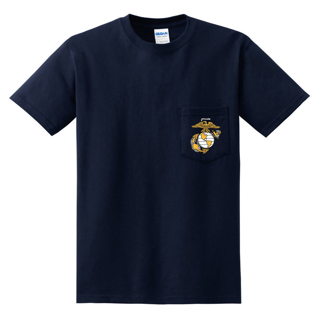 Marines EGA Pocket Tee (Multiple Colors)