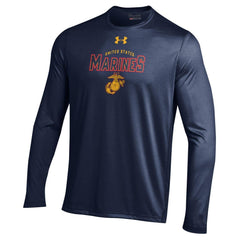 Under Armour Midnight Navy Performance Long Sleeve Tee - Marine Corps Direct  - 1