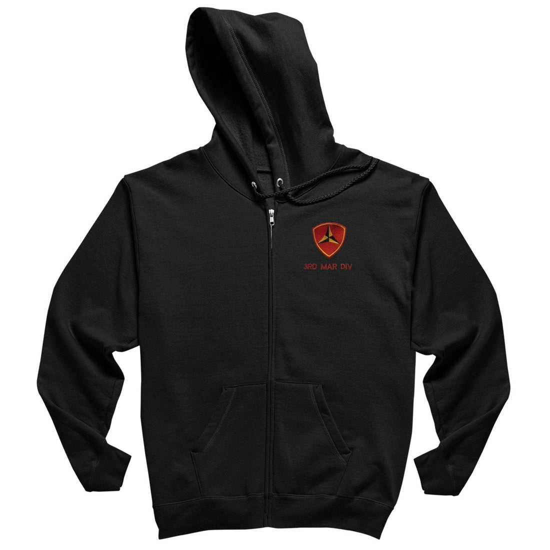 3rd Mar Div Heavy Blend™ Embroidered Full-Zip Hoodie - Marine Corps Direct