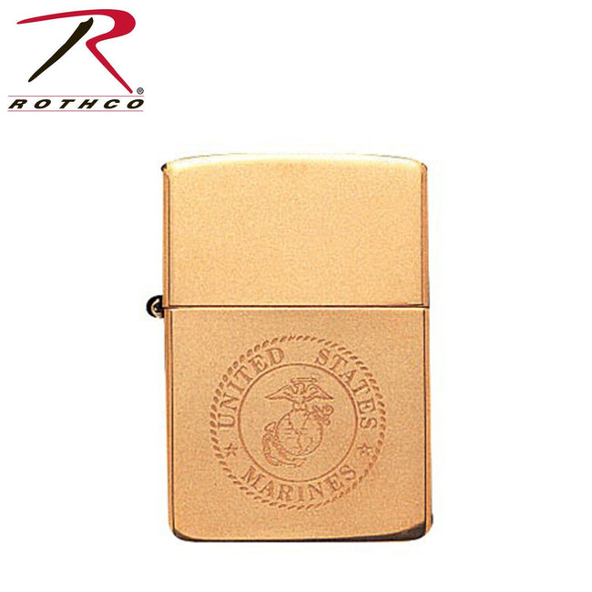 Solid Brass Marine Corps Zippo Lighter - Marine Corps Direct