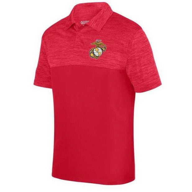 USMC Shadow Tonal Heather Polo