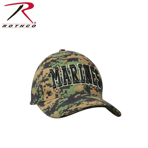 Rothco Deluxe Marines Camo Low Profile Insignia Cap