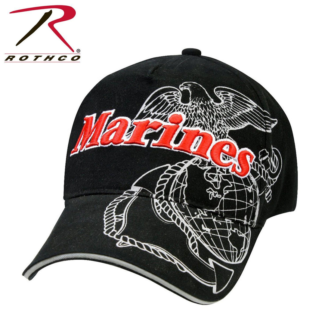 ROTHCO MARINE WITH SHADOW EGA IN BLACK - Marine Corps Direct