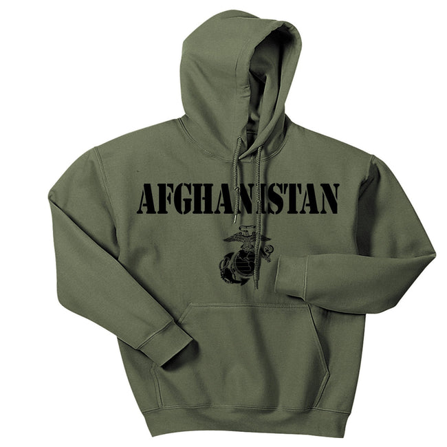Military Green Afghanistan Vintage Hoodie - Marine Corps Direct