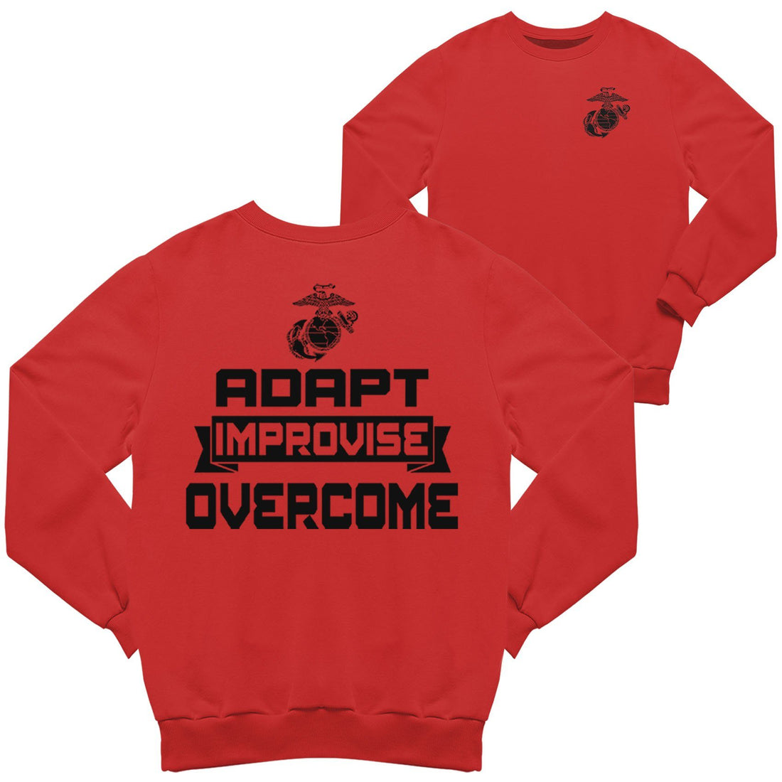Adapt, Improvise, Overcome 2-Sided Sweatshirt - Marine Corps Direct