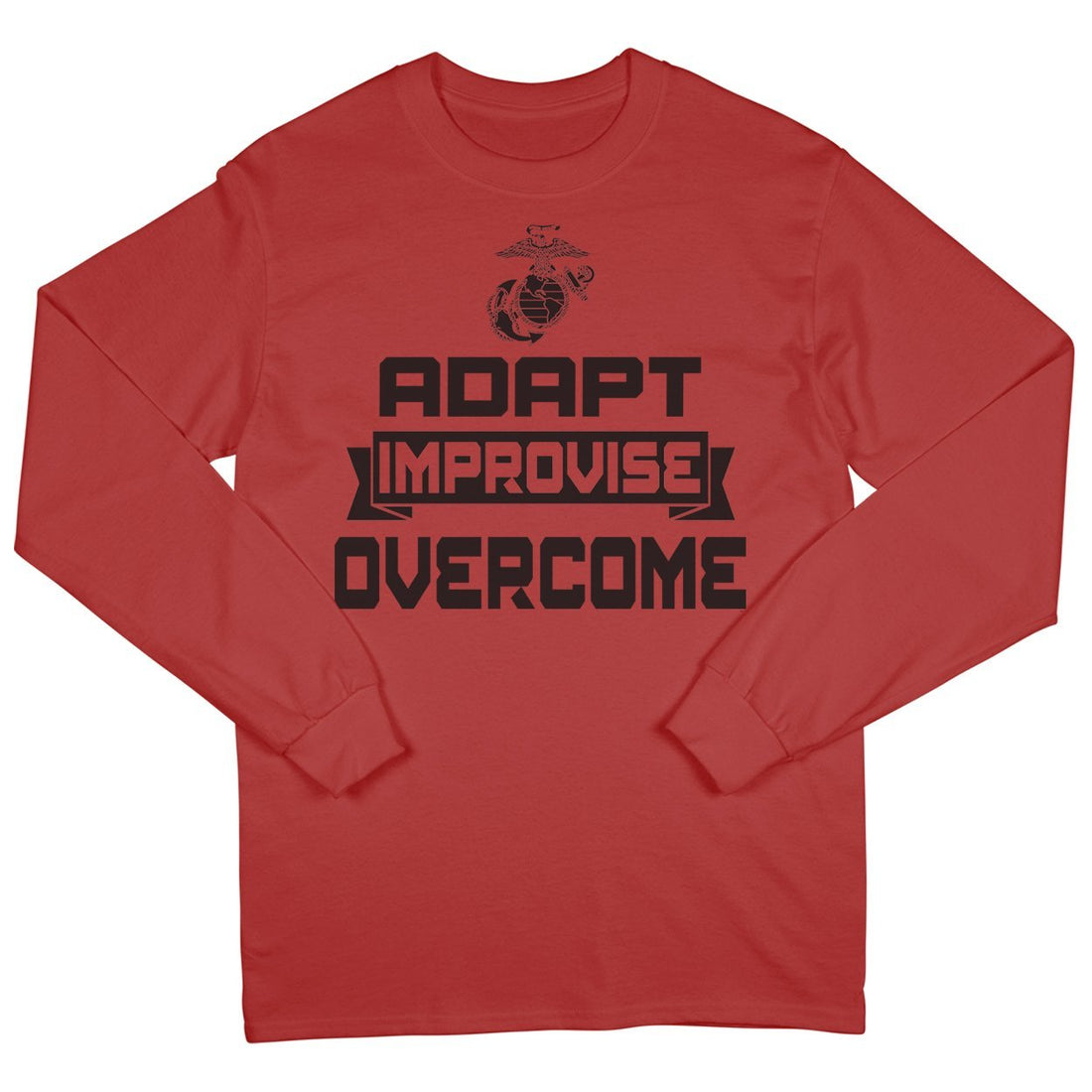 Adapt, Improvise, Overcome Long Sleeve T-Shirt - Marine Corps Direct