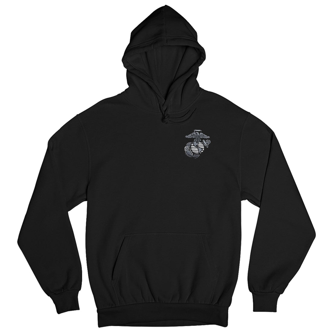 Aluminum EGA Embroidered Hoodie - Marine Corps Direct