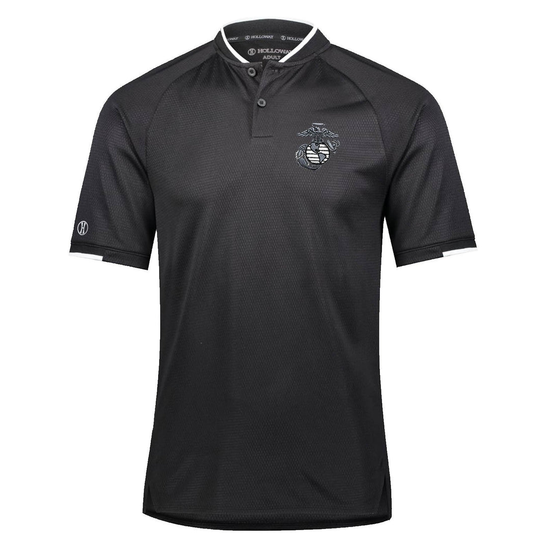 Combat Charged EGA Embroidered Mock Collar Dri-Fit Performance Polo