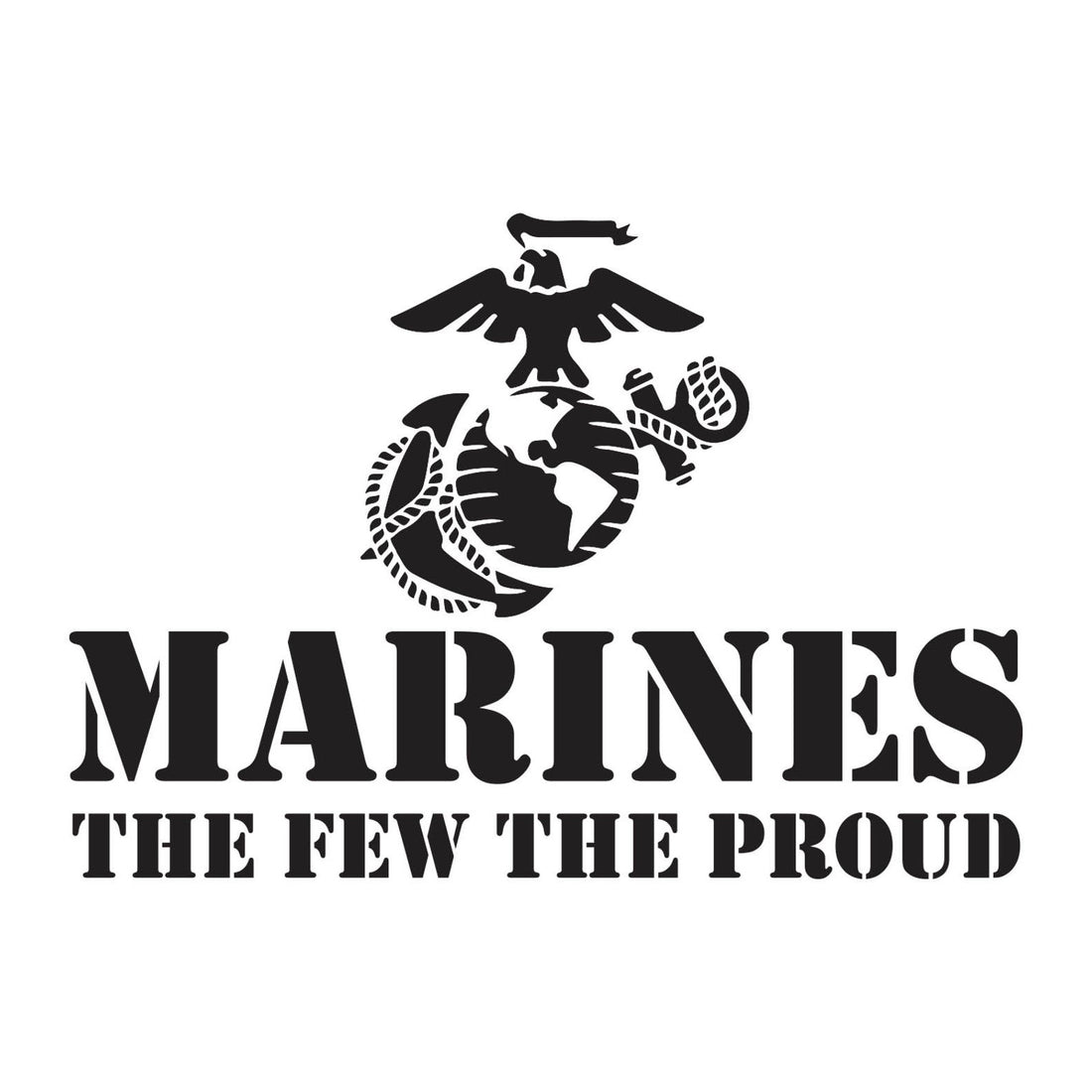 The Few The Proud Black Chest Seal Hoodie - Marine Corps Direct