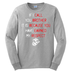 If I Call You Brother Long Sleeve Tee (MULTIPLE COLORS) - Marine Corps Direct  - 4