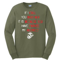 If I Call You Brother Long Sleeve Tee (MULTIPLE COLORS) - Marine Corps Direct  - 5