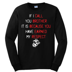 If I Call You Brother Long Sleeve Tee (MULTIPLE COLORS) - Marine Corps Direct  - 3