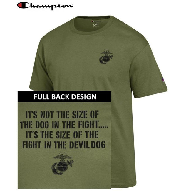 Champion Dog in the Fight OD GREEN 2-Sided T-Shirt - Marine Corps Direct