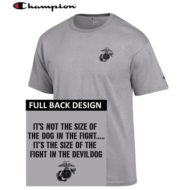 Champion Dog in the Fight Oxford Grey 2-Sided T-Shirt - Marine Corps Direct