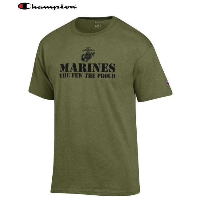 Champion Few Proud OD GREEN T-Shirt - Marine Corps Direct