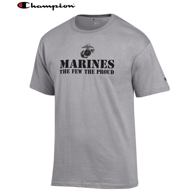 Champion Few Proud Oxford Grey T-Shirt - Marine Corps Direct