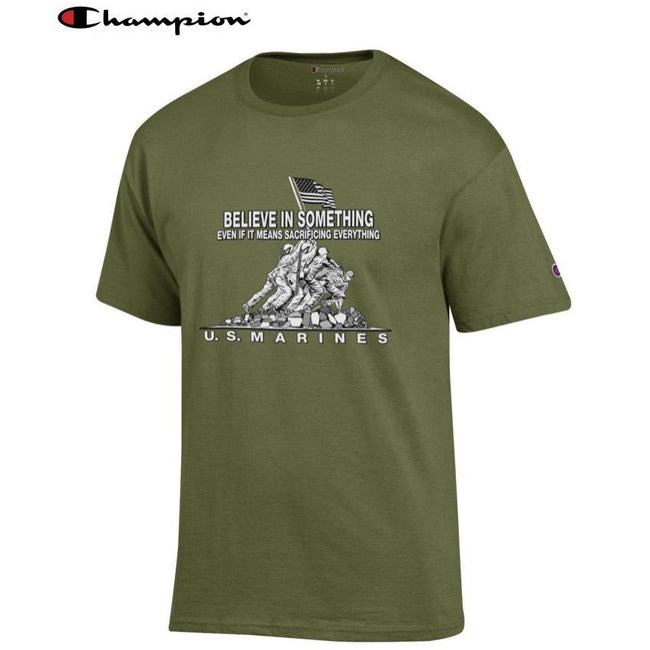 Champion Believe In Something OD GREEN Tee - Marine Corps Direct
