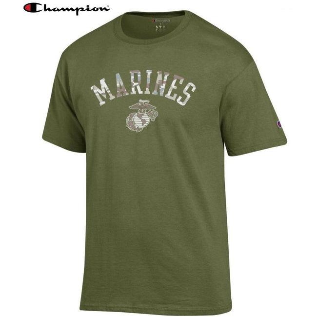 Champion Camo Marines T-Shirt (OD GREEN) - Marine Corps Direct