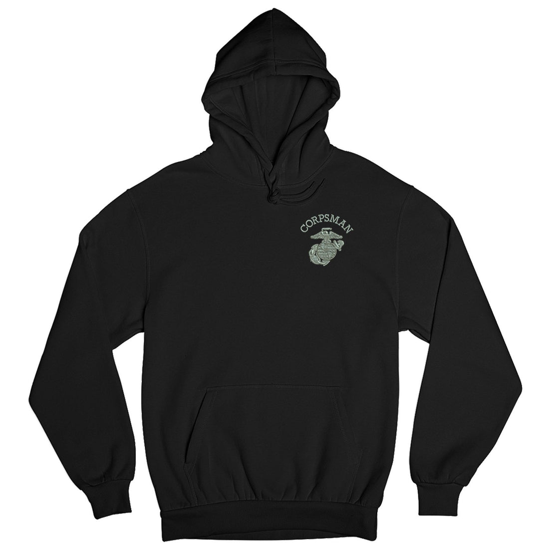Corpsman EGA Embroidered Hoodie - Marine Corps Direct