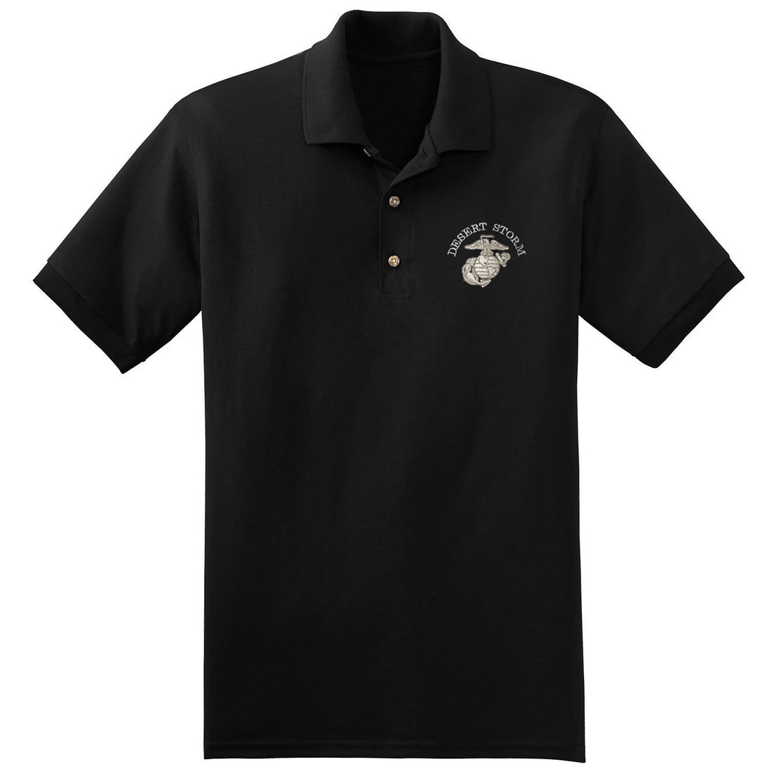 Desert Storm EGA Embroidered Polo - Marine Corps Direct