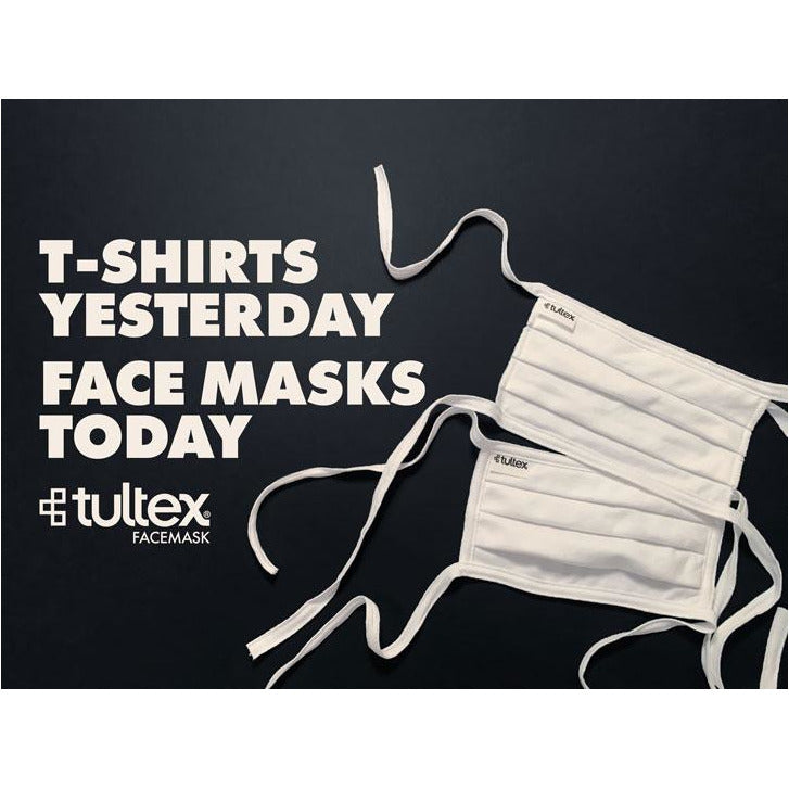 Tultex - FM19 Pleated White Face Mask