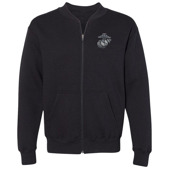CLOSEOUT Marines Fleece Full-Zip Cadet Collar Embroidered Sweatshirt (1 X LARGE ONLY $19.95)