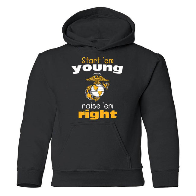 Start'em Young, Raise'em Right Youth Hoodie